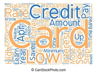 APR Credit Cards Can Save You Thousands Word Cloud Concept...