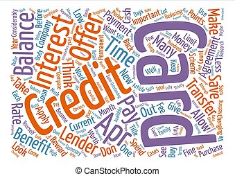 APR Credit Card Benefits Word Cloud Concept Text Background