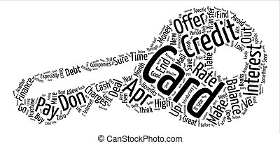 APR Credit Cards Make It Possible To Save Money Word Cloud...