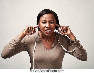 Black woman hearing anything