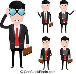 Character of business man vector illustration.