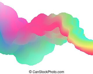 Fluid abstract shape on white background