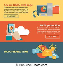 Secure data exchange and protection program Internet page...