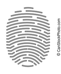 Fingerprint of twisted lines sign isolated vector...