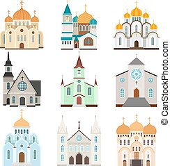 Christian sanctuary building icons - Sanctuary building...