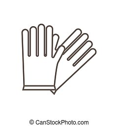 Simple vector icon of garden gloves.