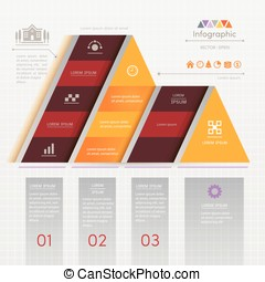 Infographics design template with business icons, process...