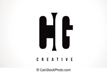 CG C G White Letter Logo Design with Black Square. - CG C G...