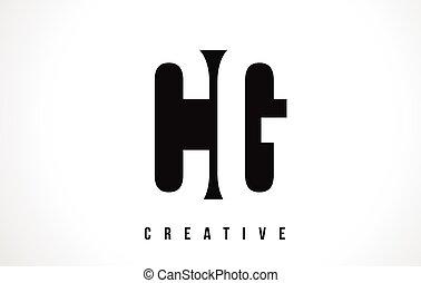 CG C G White Letter Logo Design with Black Square. - CG C G...