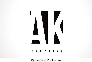 AK A K White Letter Logo Design with Black Square. - AK A K...