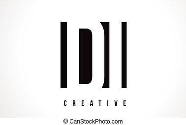 DI D I White Letter Logo Design with Black Square. - DI D I...