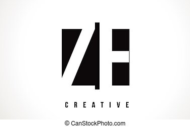 ZE Z E White Letter Logo Design with Black Square. - ZE Z E...