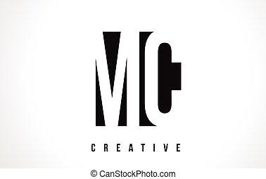 MC M C White Letter Logo Design with Black Square. - MC M C...