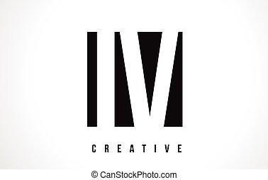IV I V White Letter Logo Design with Black Square. - IV I V...