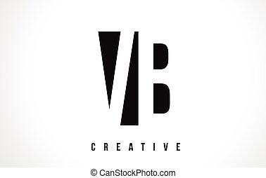 VB V B White Letter Logo Design with Black Square. - VB V B...
