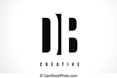 DB D B White Letter Logo Design with Black Square. - DB D B...
