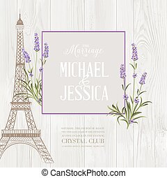 The marriage card. - Marriage invitation card with floral...
