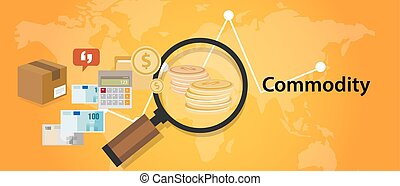 Commodity trading market investment concept in economy -...