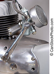 Kick starter device on a classic motorbike engine