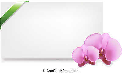 Blank Gift Tag With Orchids