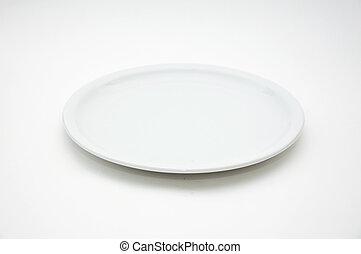 branca, vazio, prato