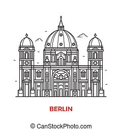 Berlin Landmark Vector Icon - Travel Berlin landmark icon....