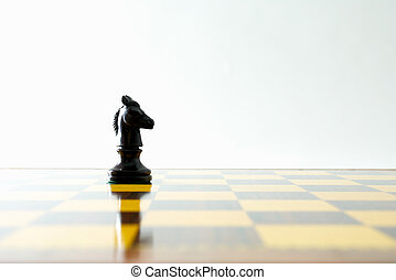 Knight - Chess knight and its reflection on the board