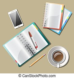 Note paper, With drawing business strategy plan concept idea