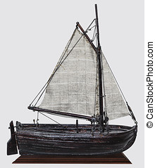 Model  old-time sailing nave