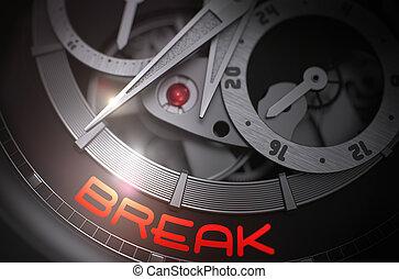 Break on the Fashion Wrist Watch Mechanism. 3D. - Break -...