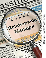 Now Hiring Relationship Manager. 3D. - Column in the...