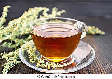 té, vidrio, tabla, Ajenjo, taza