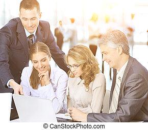 同事, 他的, 事務, 工作,  -, 不過, 經理, 背景, 隊, 討論, 會議