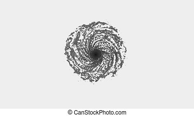 Grey Liquid tornado. Beautiful colored paint whirl. Isolated...