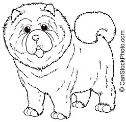 Doodle animal for chow chow dog illustration