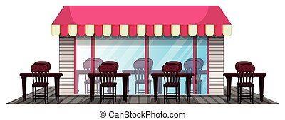 Restaurant design with outdoor dining area