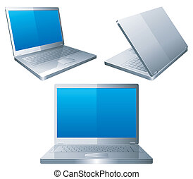 Laptops. - Set of 3 laptops.