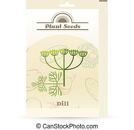 Pack of Dill seeds icon - Vector image of the Pack of Dill...