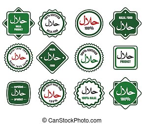 Islamic kosher certified meal emblems - Islamic kosher...