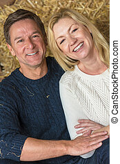 Happy Middle Aged Man and Woman Couple