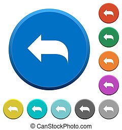 Reply to mail beveled buttons - Reply to mail round color...