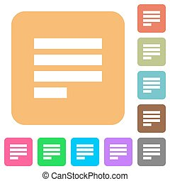 Text align justify last row left rounded square flat icons -...