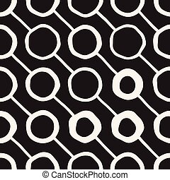 Vector Seamless Pattern. Abstract Background With Brush...