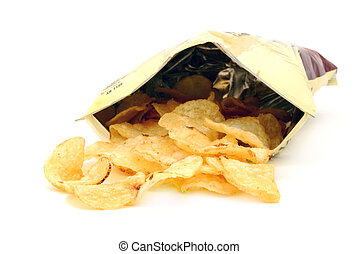 junk food - bag of potato chips