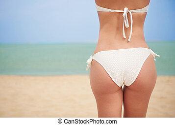 Ready for sunbathing on the beach