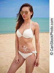 Danger of sunburn on the beach