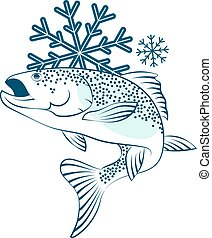Frozen salmon symbol for business