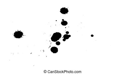 Ink drops on dry paper 02 - Black inks drop on dry paper....