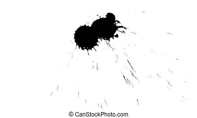Ink drops on dry paper 14 - Black inks drop on dry paper....