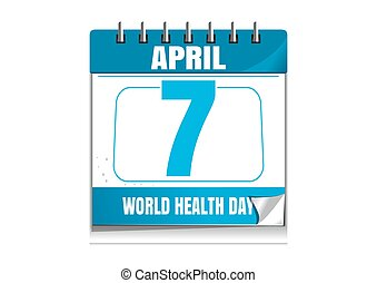 World Health Day. Wall calendar. 7 April